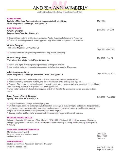 Graphic Web Designer Philanthropist Download My Resume