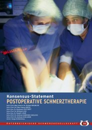 Konsensus-Statement POSTOPERATIVE SCHMERZTHERAPIE