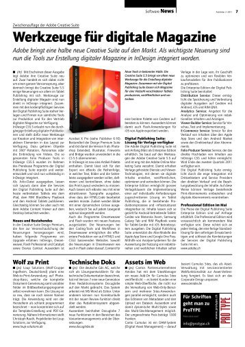Werkzeuge für digitale Magazine - Publisher