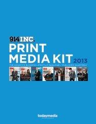 2013 914INC Magazine Media Kit - Westchester Magazine