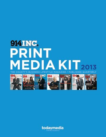 2013 914INC Magazine Media Kit - Westchester Magazine