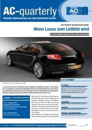 Wenn Luxus zum Leitbild wird - Automobil Cluster