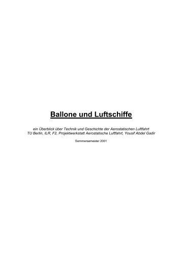 Ballone und Luftschiffe - IsoLuftschiff