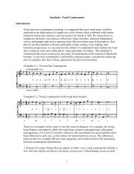1 Interlude: Tonal Counterpoint Introduction In the previous ...