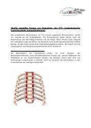 endoskopische transthorakale Sympathektomie