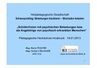 Präsentation zum Vortrag von Maria Fischer als PDF