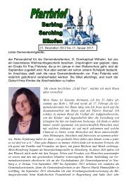 Pfarrbrief 23. Dezember 2012 bis 13. Januar 2013 - Pfarrei Barbing ...