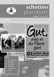 Ausgabe Nr. 38, Fastenzeit 2012 - Schottenpfarre