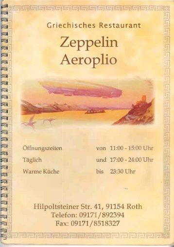 Page 1 Griechisches Restaurant Zeppelin Aeroplio Öffnungszeiten ...