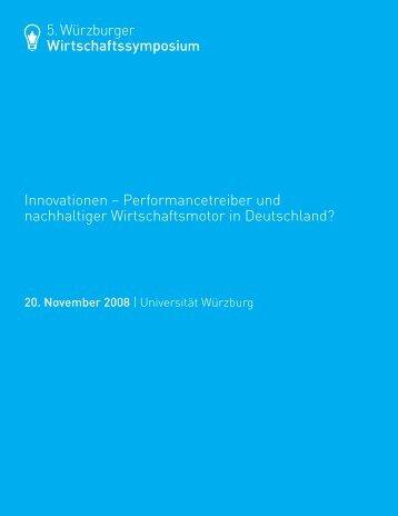 5. Würzburger Wirtschaftssymposium Innovationen - OPUS ...