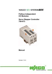 Fielbus Independent I/O Modules Servo Stepper Controller ... - Wago