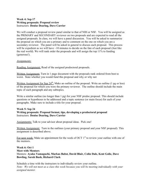 Proposals Syllabus - Biology Courses Server