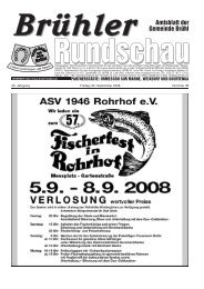 Amtsblatt KW36 2008 - Gemeinde Brühl