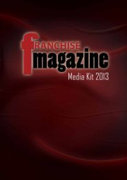 Media Kit 2013 - Franchise Magazine