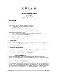 Executive Committee Meeting Draft Minutes - AMICO Members