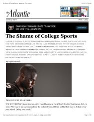 The Shame of College Sports - Magazine - The Atlantic