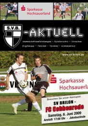 12. Ausgabe 2008/2009 von SVB-aktuell als - SV 20 Brilon