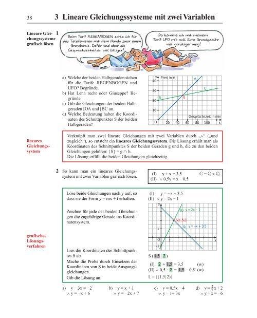 Lineare gleichungen mit zwei variablen