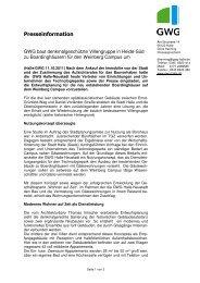 GWG baut denkmalgeschützte Villengruppe in Heide-Süd zu