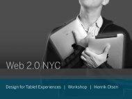 Design for Tablet Experiences | Workshop | Henrik ... - cdn.oreilly.com