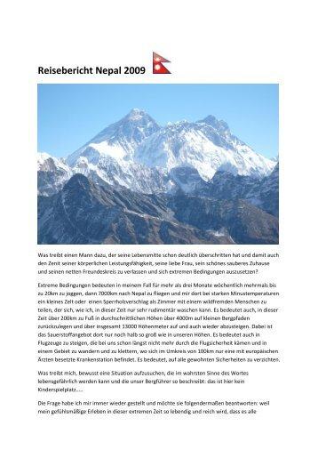 Reisebericht Nepal 2009 - Gairrit.com
