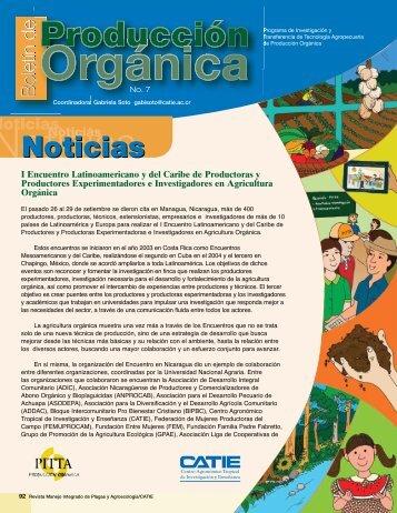 Boletín de Producción Orgánica - intranet.catie.ac.cr - Catie