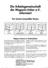 Die Arbeitsgemeinschaft der Magazin-Imker e.V.