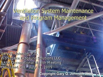 Maintaining and Managing Your Ventilation Program - Nasa