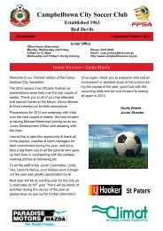 Trial Sessions: Girls – U11 and U13 - Campbelltown City Soccer Club