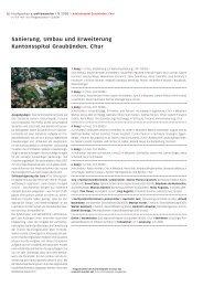 Sanierung, Umbau und Erweiterung Kantonsspital Graubünden, Chur