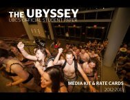 UBC'S OFFICIAL STUDENT PAPER MEDIA KIT ... - The Ubyssey