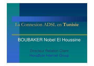 La connection ADSL en Tunisie - WEB 2 COM