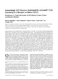 Immunologic Self-Tolerance Maintained by Activated T Cells ...