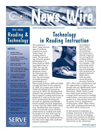 Technology in Reading Instruction - SEIR*Tec