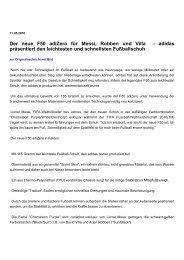 Spoteo: Der neue F50 adiZero für Messi, Robben und Villa - adidas ...