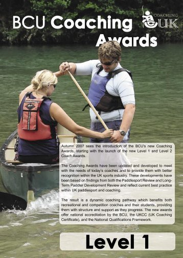 Level 1 Certificate in Coaching Paddlesport - Overview