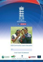 ECB COACH WORKBOOK.indd - Sports Mentoring