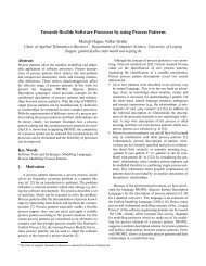 Towards flexible Software Processes by using Process Patterns