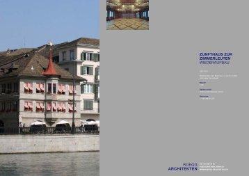 Zunfthaus zur Zimmerleuten 2008-2010 - Rüegg Architekten