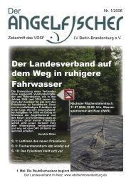 Der Angelfischer 1/2006 - VDSF LV Berlin-Brandenburg e.V.