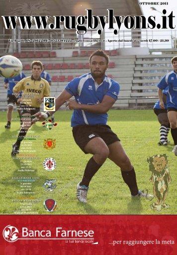 Ottobre 2011 - Rugby Lyons Piacenza