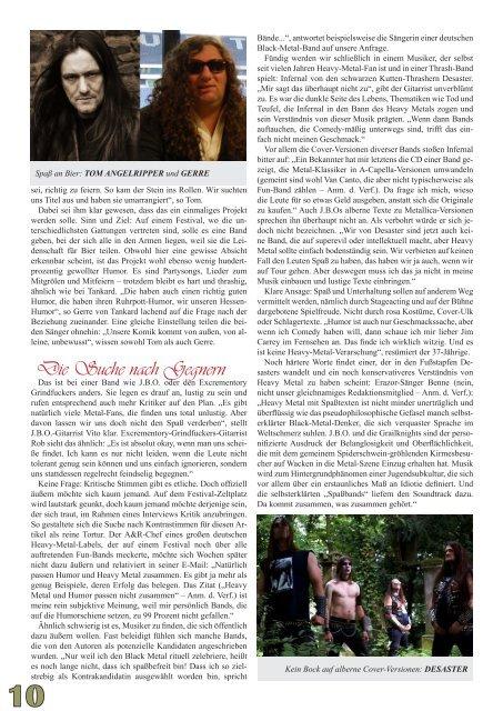METAL MIRROR #46 - Metal und Humor, JBO, Grailknights ...