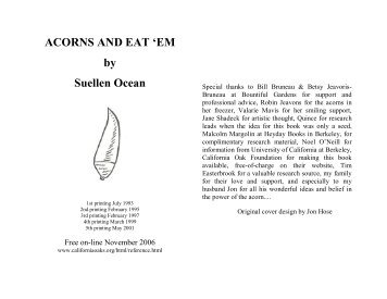 ACORNS AND EAT - California Oaks Foundation