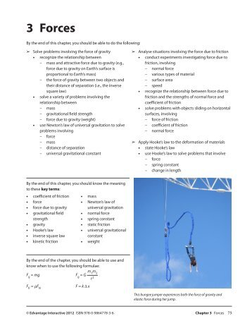 3 Forces - BC Science Physics 11