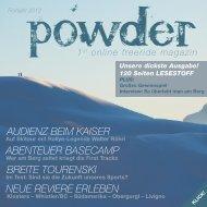 AUDIENZ BEIM KAISER ABENTEUER ... - powder magazin
