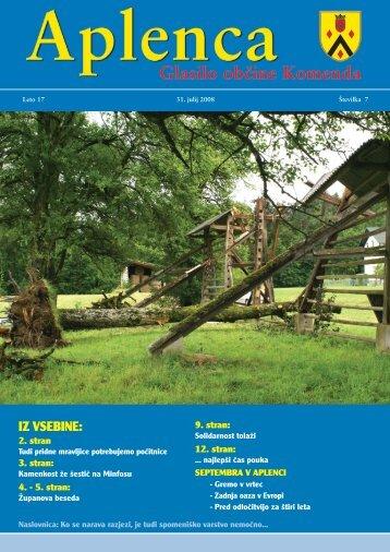 Aplenca – Glasilo občine Komenda 07/2008