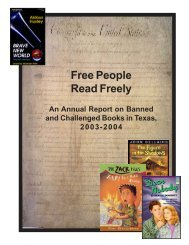 Free People Read Freely - ACLU of Texas