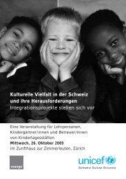 Kulturelle Vielfalt in der Schweiz und ihre ... - Integration Basel