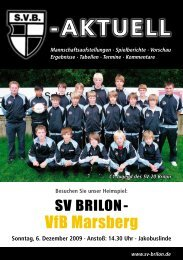7. Ausgabe 2009/2010 von SVB-aktuell als - SV 20 Brilon