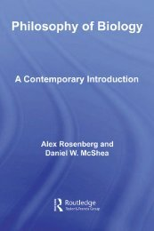 Philosophy of Biology: A Contemporary Introduction - Biolozi.net